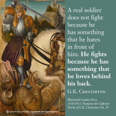 """A real soldier does not fight because he has something that he hates in front of him"
